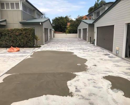 Concrete Driveway Repair Before - Decorative Concrete Resurfacing